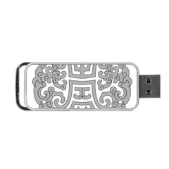 Chinese Traditional Pattern Portable Usb Flash (two Sides)