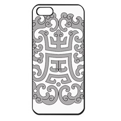 Chinese Traditional Pattern Apple Iphone 5 Seamless Case (black)