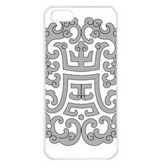 Chinese Traditional Pattern Apple Iphone 5 Seamless Case (white)