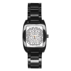 Chinese Traditional Pattern Stainless Steel Barrel Watch