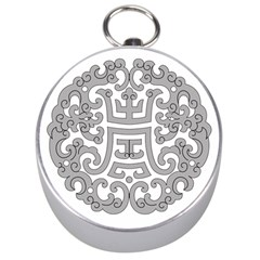 Chinese Traditional Pattern Silver Compasses