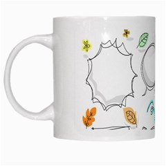 Set Chalk Out Chitchat Scribble White Mugs