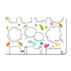 Set Chalk Out Chitchat Scribble Magnet (rectangular)