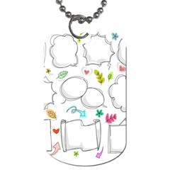 Set Chalk Out Chitchat Scribble Dog Tag (two Sides)