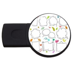 Set Chalk Out Chitchat Scribble Usb Flash Drive Round (2 Gb) by Nexatart