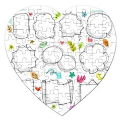 Set Chalk Out Chitchat Scribble Jigsaw Puzzle (heart)