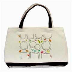 Set Chalk Out Chitchat Scribble Basic Tote Bag (two Sides)