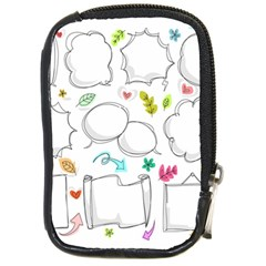 Set Chalk Out Chitchat Scribble Compact Camera Cases