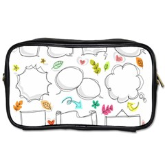 Set Chalk Out Chitchat Scribble Toiletries Bags