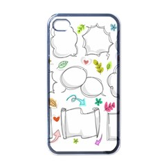 Set Chalk Out Chitchat Scribble Apple Iphone 4 Case (black)