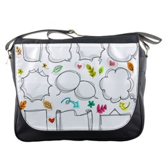 Set Chalk Out Chitchat Scribble Messenger Bags