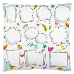 Set Chalk Out Chitchat Scribble Large Cushion Case (one Side)