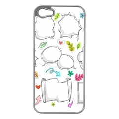 Set Chalk Out Chitchat Scribble Apple Iphone 5 Case (silver)