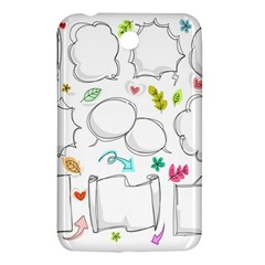 Set Chalk Out Chitchat Scribble Samsung Galaxy Tab 3 (7 ) P3200 Hardshell Case