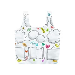 Set Chalk Out Chitchat Scribble Full Print Recycle Bags (s)