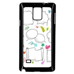 Set Chalk Out Chitchat Scribble Samsung Galaxy Note 4 Case (black)