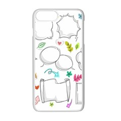 Set Chalk Out Chitchat Scribble Apple Iphone 7 Plus Seamless Case (white)