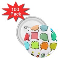 Set Collection Balloon Image 1 75  Buttons (100 Pack)