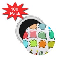 Set Collection Balloon Image 1 75  Magnets (100 Pack)