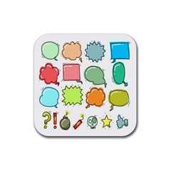 Set Collection Balloon Image Rubber Square Coaster (4 Pack)