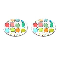 Set Collection Balloon Image Cufflinks (oval)