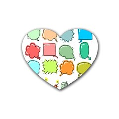 Set Collection Balloon Image Rubber Coaster (heart)