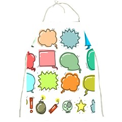 Set Collection Balloon Image Full Print Aprons