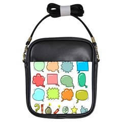 Set Collection Balloon Image Girls Sling Bags