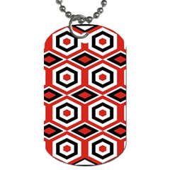 Motif Batik Design Decorative Dog Tag (one Side) by Nexatart