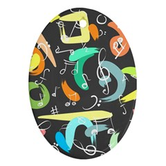 Repetition Seamless Child Sketch Ornament (oval)