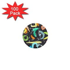 Repetition Seamless Child Sketch 1  Mini Buttons (100 Pack)