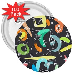 Repetition Seamless Child Sketch 3  Buttons (100 Pack)