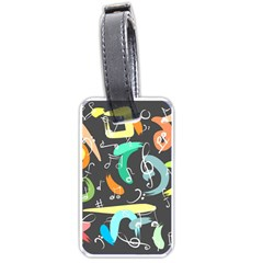 Repetition Seamless Child Sketch Luggage Tags (one Side)  by Nexatart