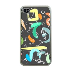 Repetition Seamless Child Sketch Apple Iphone 4 Case (clear)