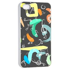 Repetition Seamless Child Sketch Apple Iphone 4/4s Seamless Case (white)