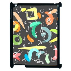Repetition Seamless Child Sketch Apple Ipad 2 Case (black)