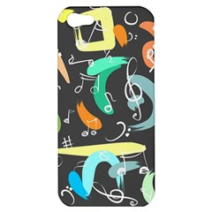Repetition Seamless Child Sketch Apple Iphone 5 Hardshell Case