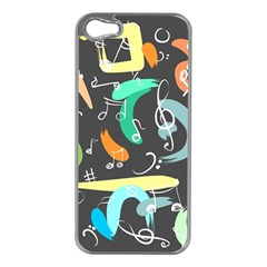 Repetition Seamless Child Sketch Apple Iphone 5 Case (silver)