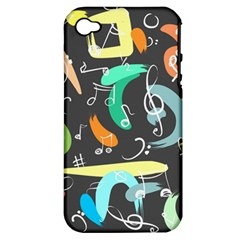 Repetition Seamless Child Sketch Apple Iphone 4/4s Hardshell Case (pc+silicone)