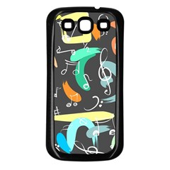 Repetition Seamless Child Sketch Samsung Galaxy S3 Back Case (black)