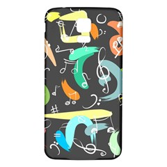 Repetition Seamless Child Sketch Samsung Galaxy S5 Back Case (white)