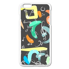 Repetition Seamless Child Sketch Apple Iphone 6 Plus/6s Plus Enamel White Case