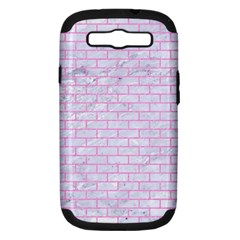 Brick1 White Marble & Pink Colored Pencil (r) Samsung Galaxy S Iii Hardshell Case (pc+silicone) by trendistuff