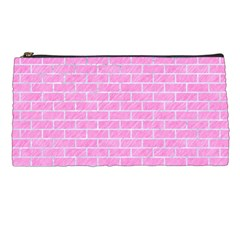 Brick1 White Marble & Pink Colored Pencilbrick1 White Marble & Pink Colored Pencil Pencil Cases by trendistuff