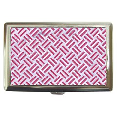 Woven2 White Marble & Pink Denim (r) Cigarette Money Cases by trendistuff