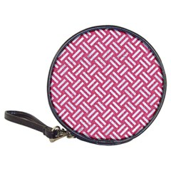 Woven2 White Marble & Pink Denim Classic 20 Cd Wallets