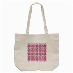 Woven1 White Marble & Pink Denim (r) Tote Bag (cream) by trendistuff