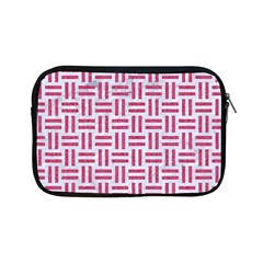 Woven1 White Marble & Pink Denim (r) Apple Ipad Mini Zipper Cases by trendistuff