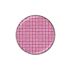 Woven1 White Marble & Pink Denim Hat Clip Ball Marker (10 Pack) by trendistuff