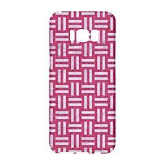 Woven1 White Marble & Pink Denim Samsung Galaxy S8 Hardshell Case